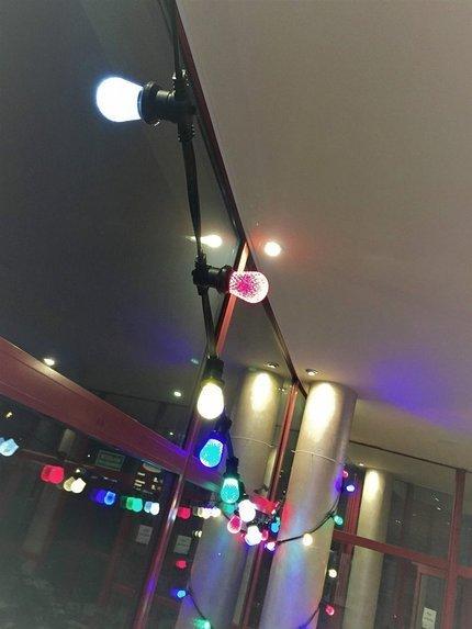Girlanda świetlna zewnętrzna 10m rozstaw 0,25m 40x10W czarny przewód Candellux 2570180