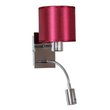 Kinkiet burgund / chrom z wyłącznikiem E14 + LED Sylwana Candellux 21-29317