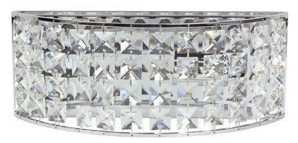 Kinkiet ścienny chromowy z kryształkami Lords Candellux 21-37909