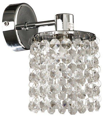 Kinkiet ścienny chromowy z kryształkami Royal Candellux 21-08421