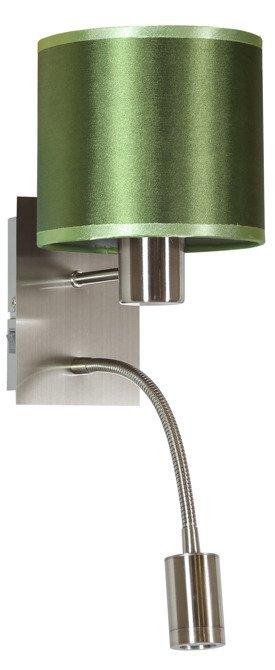 Kinkiet zielony / chrom z wyłącznikiem E14 + LED Sylwana Candellux 21-29294