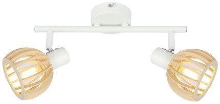 LAMPA ŚCIENNA  CANDELLUX ATARRI 92-68088 LISTWA  E14 BIAŁY+DREWNO