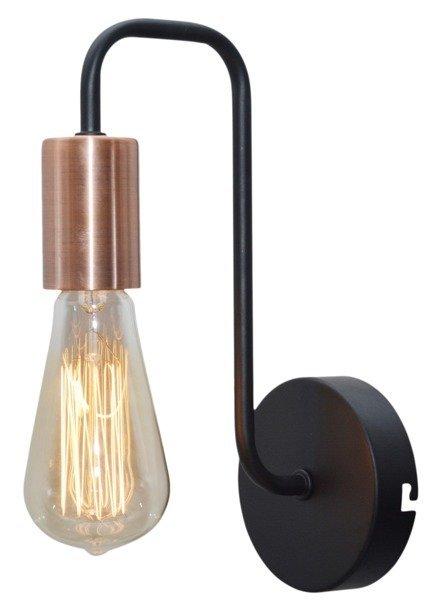 LAMPA ŚCIENNA KINKIET CANDELLUX HERPE 21-66855  E27 CZARNY