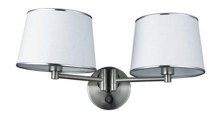 LAMPA ŚCIENNA KINKIET CANDELLUX IBIS 22-00890  E14 SATYNA