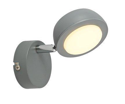 LAMPA ŚCIENNA KINKIET CANDELLUX MILD 91-66534  LED SZARY 3000K