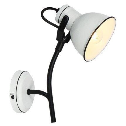 LAMPA ŚCIENNA KINKIET CANDELLUX ZUMBA 91-72122 NA WYSIĘGNIKU  E14 BIAŁY+CZARNY