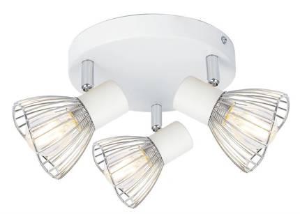 LAMPA SUFITOWA  CANDELLUX FLY 98-61980 PLAFON  E14 BIAŁY/CHROM