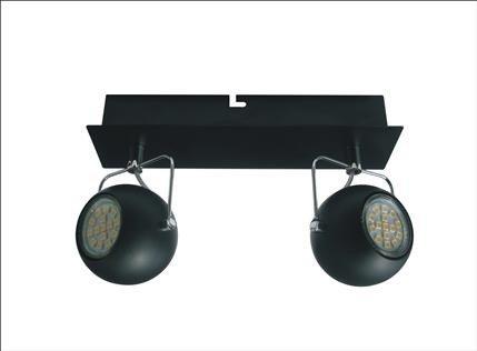 LAMPA SUFITOWA CANDELLUX WYPRZEDAŻ 92-25012-Z LISTWA TONY 2X3W LED GU10 CZARNY MATOWY