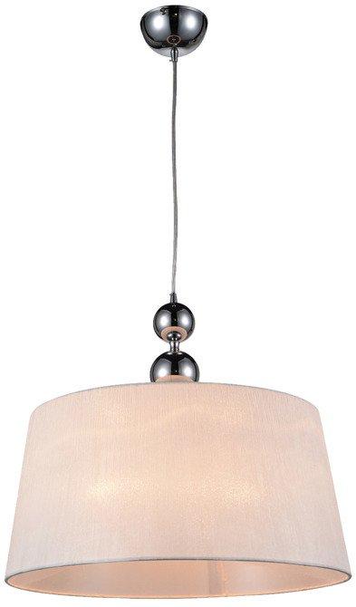 LAMPA SUFITOWA WISZĄCA CANDELLUX CLARA 31-21601   E27 CHROM / BIAŁY