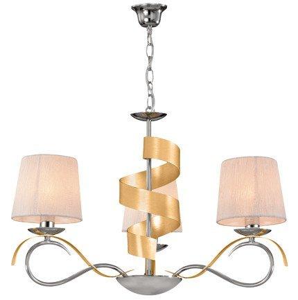 LAMPA SUFITOWA WISZĄCA CANDELLUX DENIS 33-23421  E14 CHROM / ZŁOTY
