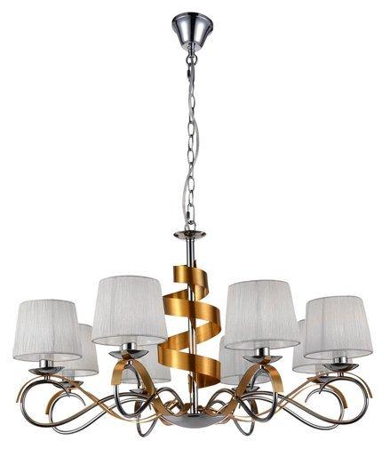 LAMPA SUFITOWA WISZĄCA CANDELLUX DENIS 38-23469  E14 CHROM/ZŁOTY