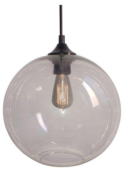 LAMPA SUFITOWA WISZĄCA CANDELLUX EDISON 31-21403   E27 TRANSPARENTNY + ŻARÓWKA