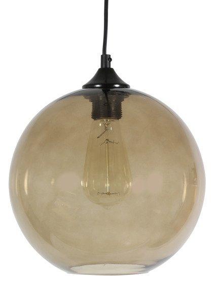 LAMPA SUFITOWA WISZĄCA CANDELLUX EDISON 31-28259   E27 BRĄZOWY + ŻARÓWKA