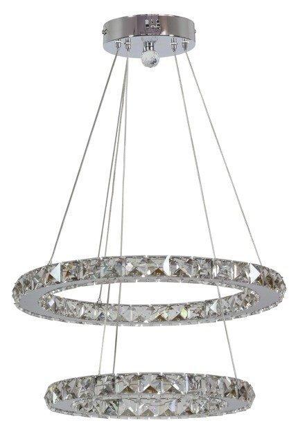 LAMPA SUFITOWA WISZĄCA CANDELLUX LORDS 31-32515  OKRĄGŁY PODWÓJNY 24W LED CHROM