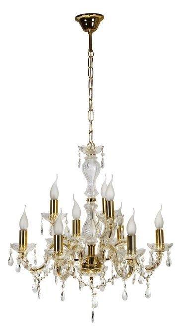 LAMPA SUFITOWA WISZĄCA CANDELLUX MARIA 39-95841  E14 ZŁOTY
