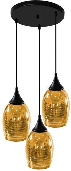 LAMPA SUFITOWA WISZĄCA CANDELLUX MARINA 33-58010 TALERZ  E27 ZŁOTY