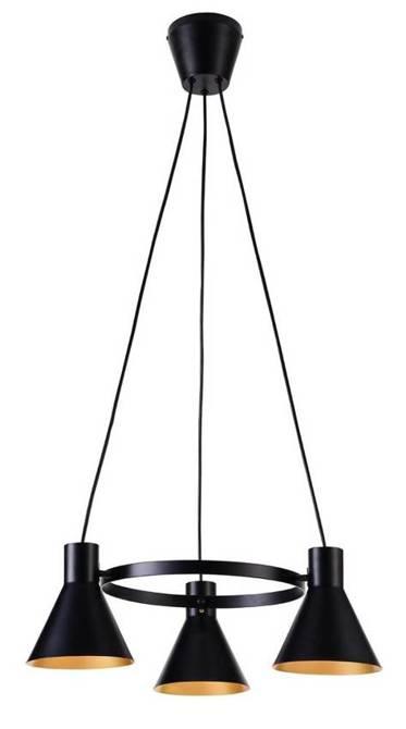 LAMPA SUFITOWA WISZĄCA CANDELLUX MORE 33-71156  E27 CZARNY MATOWY