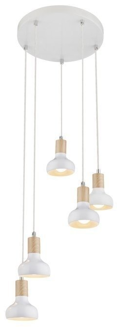 LAMPA SUFITOWA WISZĄCA CANDELLUX PUERTO 35-62772  E14 NA TALERZU BIAŁY