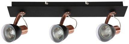 Lampa Ścienna Candellux Markus 93-35608-M Listwa Gu10 Czarny+Miedziany
