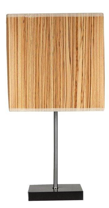 Lampa Stołowa Gabinetowa Candellux Cajman 41-57405 E14 20X20 Cm Kwadrat