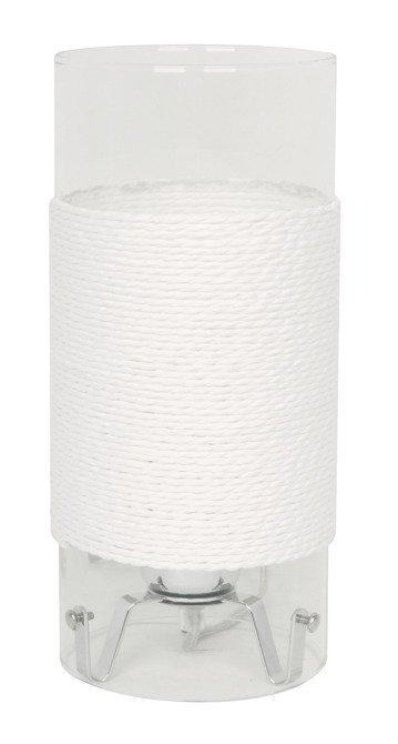 Lampa Stołowa Gabinetowa Candellux Wring 41-28006 E27 Chrom Taransparent / Biały