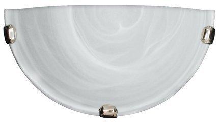 Lampa Sufitowa Candellux Duna 11-38671 Plafon1/2 Biały Uchwyt Chrom 60W