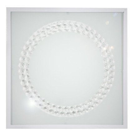Lampa Sufitowa Candellux Lux 10-60648 Plafon 16W Led 6500K Biały Duży Ring