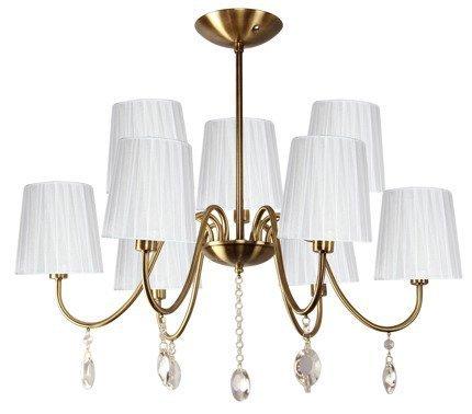 Lampa Sufitowa Wisząca Candellux Sorento 39-38173 E14 Patyna Abażur Biały