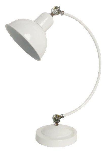 Lampa gabinetowa stołowa biała regulowana 40W Old 41-27931
