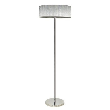 Lampa podłogowa chromowa abażur sznurkowy 3x40W Solo Candellux 51-27903