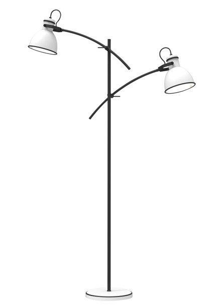 Lampa podłogowa czarno-biała regulowana prosta 2x40W Zumba Candellux 52-72672