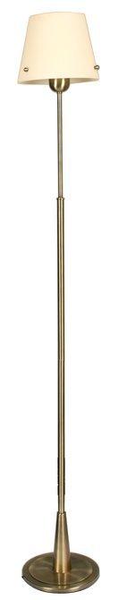 Lampa podłogowa patynowa abażur beżowy szklany Tango Candellux 51-63574