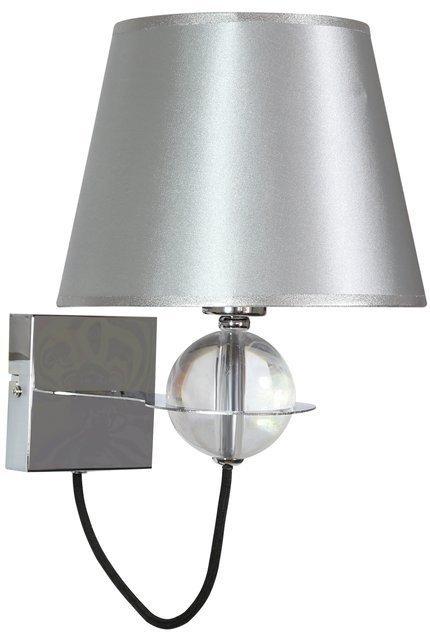 Lampa ścienna kinkiet 1X40W E14 srebrny TESORO 21-29522