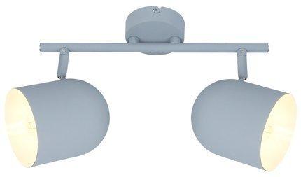 Lampa ścienna listwa 2X40W E27 szary mat AZURO 92-63212