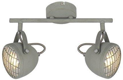 Lampa ścienna listwa 2X50W GU10 betonowy szary PENT 92-68057