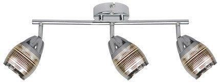 Lampa ścienna listwa 3X10W E14 LED chrom MILTON 93-61294
