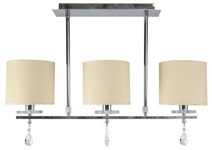 Lampa sufitowa chromowa 3x40W abażur z tkaniny Estera Candellux 33-11510