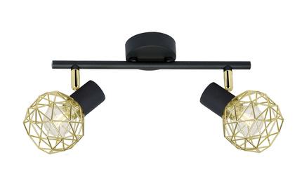 Lampa sufitowa listwa ścienna czarna złoty klosz Acrobat Candellux 92-66336