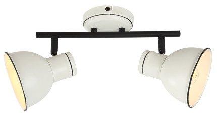 Lampa sufitowa ścienna biało-czarna 2x40W regulowana Zumba Candellux 92-72139