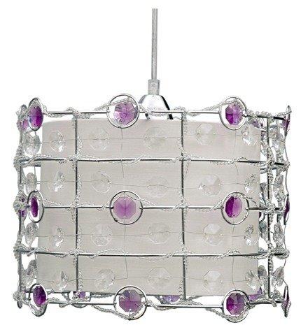 Lampa sufitowa wisząca 1X40W E27 fiolet SENECA 31-02976