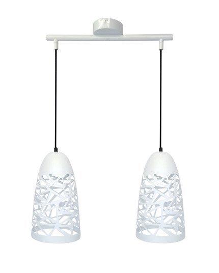 Lampa sufitowa wisząca 2X60W E27 biała SABRIN 32-54869