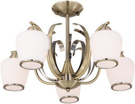 Lampa sufitowa wisząca 5X60W E27 patyna OPERA 35-54968