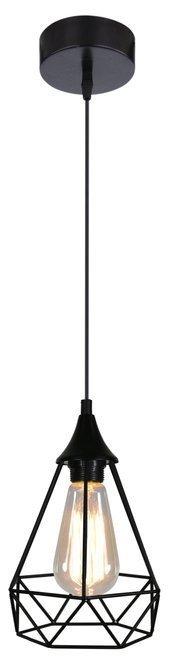Lampa sufitowa wisząca czarna druciana 1x60W Graf Candellux 31-62888
