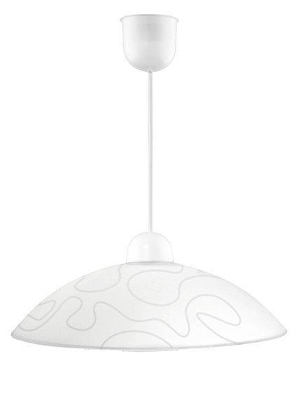 Lampa wisząca biała szklana Malibu31-84067