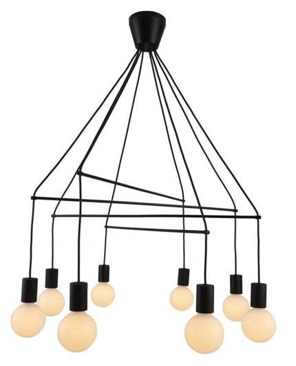 Lampa wisząca carna matowa 8x40W dwuobwodowa E27 Alto Candellux 38-70951