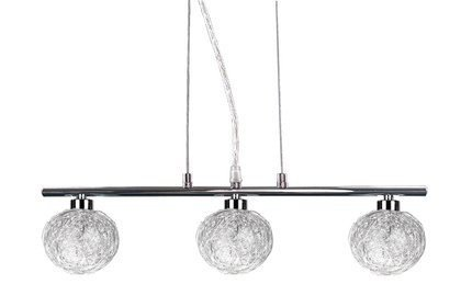 Lampa wisząca chrom szklany klosz w oplocie 3x40W Sphere Candellux 33-14023