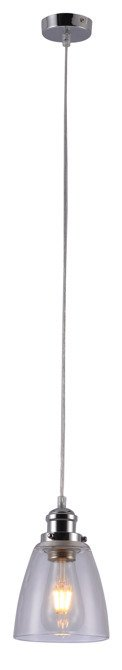 Lampa wisząca chromowa szklany klosz Voice Candellux 31-70821