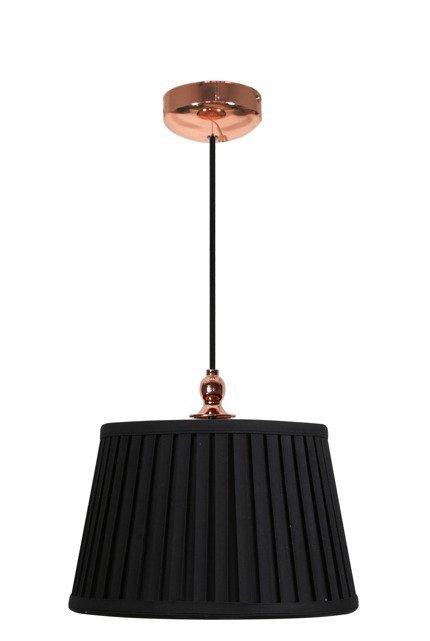Lampa wisząca czarno-miedziana stożek 60W E27 Amore Candellux 31-39378