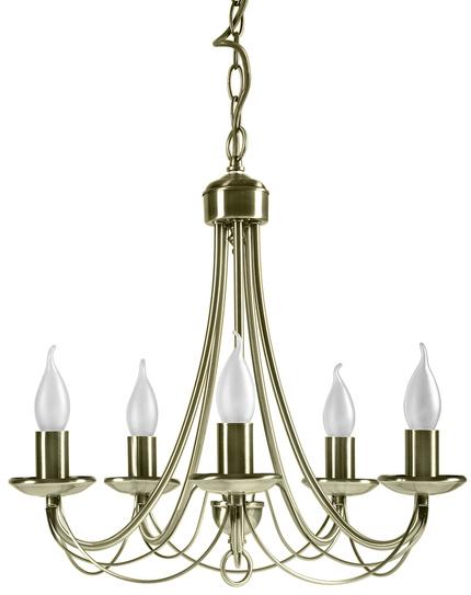 Lampa wisząca patynowa żyrandol 5x40W E14 Muza 35-69170
