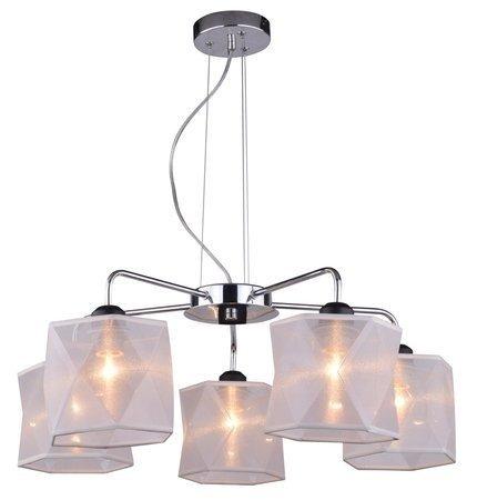 Lampa wisząca sufitowa chromowa regulowana 5x40W Nosja Candellux 35-58737
